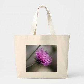 alpine thistle (Carduus defloratus) Large Tote Bag