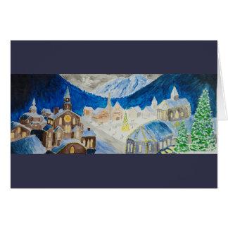 Alpine Village Christmas Card (glossy)