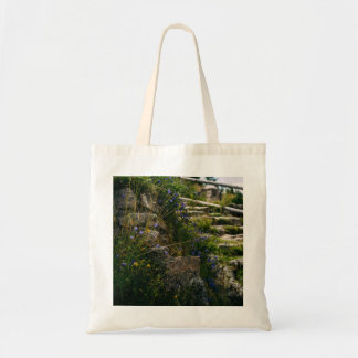 Alpine Wild Flowers On A Hiking Road Budget Tote Bag