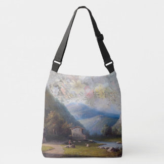 Alpine Wildflower Flowers & Alps Town Tote Bag