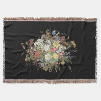 Alpine Wildflower Flowers Edelweiss Spray Throw