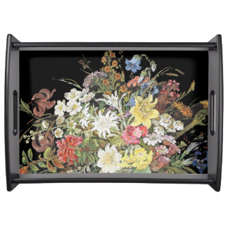 Alpine Wildflower Flowers Floral Serving Tray