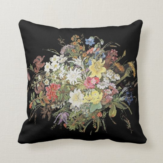 Alpine Wildflower Flowers Floral Spray Pillow