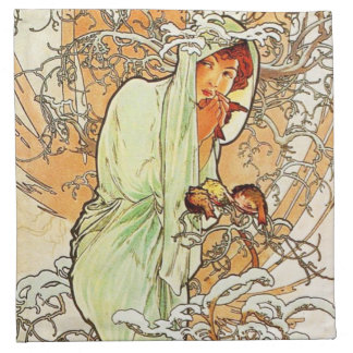 Alpohnse Mucha Winter Napkins