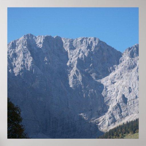 Alps Austria maple ground Alps Austria Print