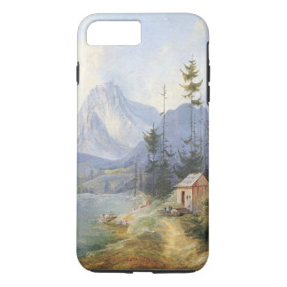 Alps Lake Boat Cabin Wilderness iPhone  Case