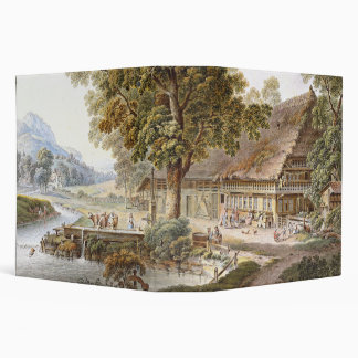 Alps Lake Farmhouse Swiss Mountains Avery Binder