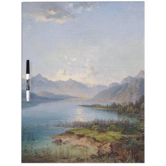 Alps Lake Mountains Wilderness Dry Erase Board