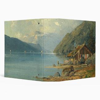 Alps Lake Sailboats Cabin Wilderness Avery Binder