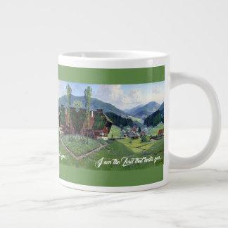 Alps Meadow Stream God Heals You Jumbo Mug