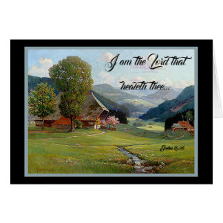 Alps Meadow Stream Wildflowers God Heals Card