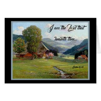 Alps Meadow Stream Wildflowers God Heals Card