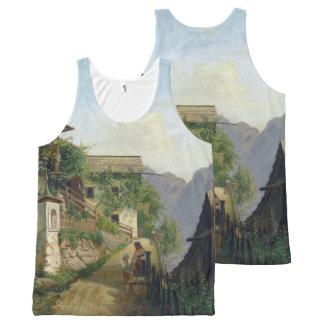 Alps Mountain Town Vine Houses Tank Top
