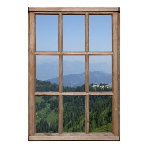 Alps Mountain View from a Window Posters