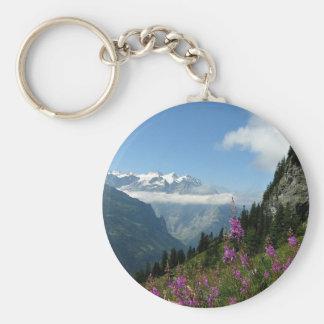 Alps, Mountains Keychain