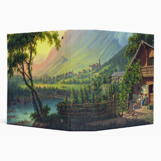 Alps River Farmhouse Swiss Mountains Avery Binder