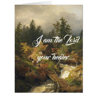 Alps River Old Mill God Heals Big Greeting Card