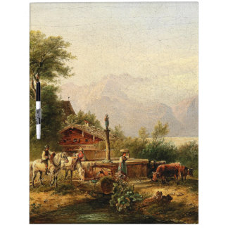 Alps Well Herders Lake Mountains Dry Erase Board