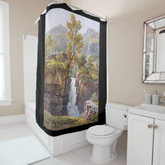 Alps Wilderness Waterfall Meadow Shower Curtain