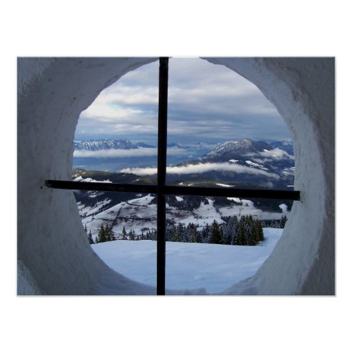 Alps Window View Photo Posters