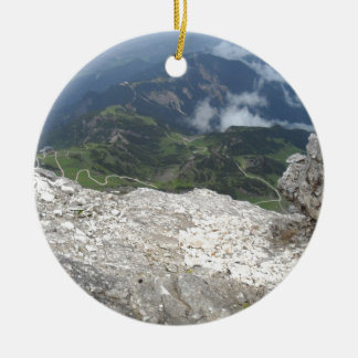 Alpspitze, German Alps Ceramic Ornament