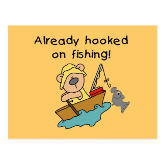 Already Hooked on Fishing Tshirts and Gifts Postcard