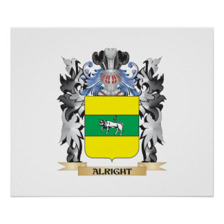 Alright Coat of Arms - Family Crest Poster