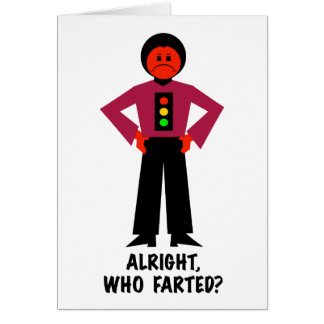 Alright, Who Farted? Card