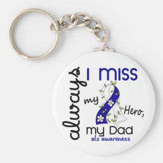 ALS Always I Miss My Dad 3 Keychain
