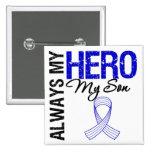 ALS Always My Hero My Son 2 Inch Square Button