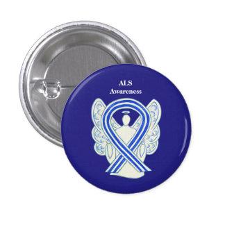 ALS Awareness Ribbon Angel Art Button Pins
