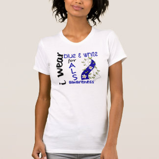 ALS I Wear Blue and White For Awareness 43 T-Shirt