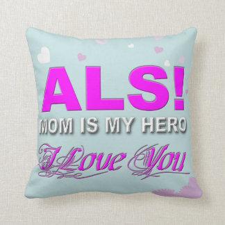 """ALS Mom Throw Pillow 16"""" x 16"""""""