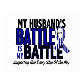 ALS My Battle Too 1 Husband Postcard