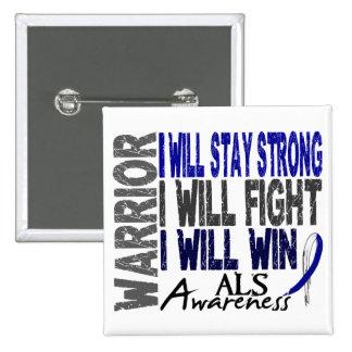 ALS Warrior 2 Inch Square Button