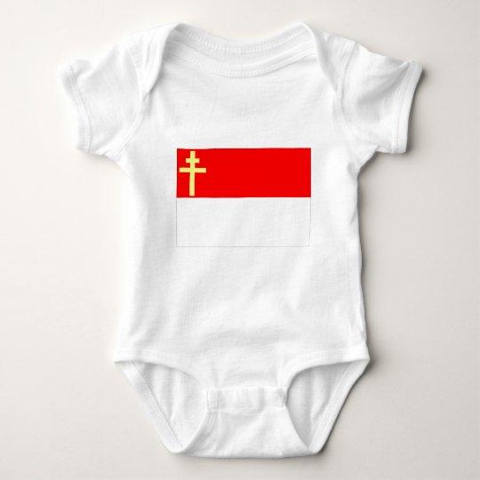Alsace-Lorraine Flag Baby Bodysuit