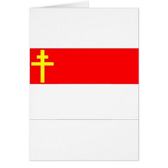 Alsace-Lorraine Flag Card