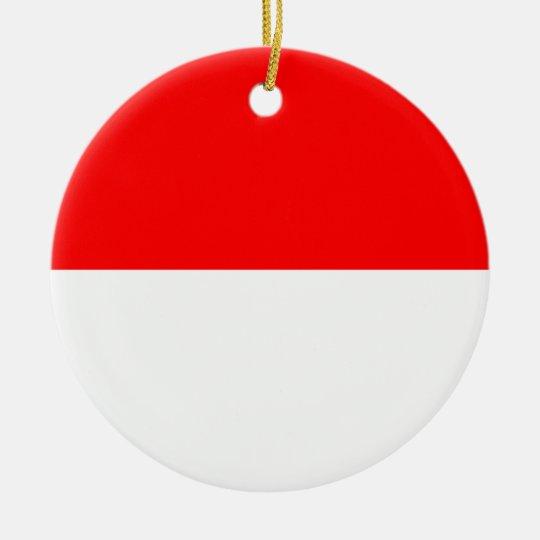 Alsace-Lorraine Flag Ceramic Ornament