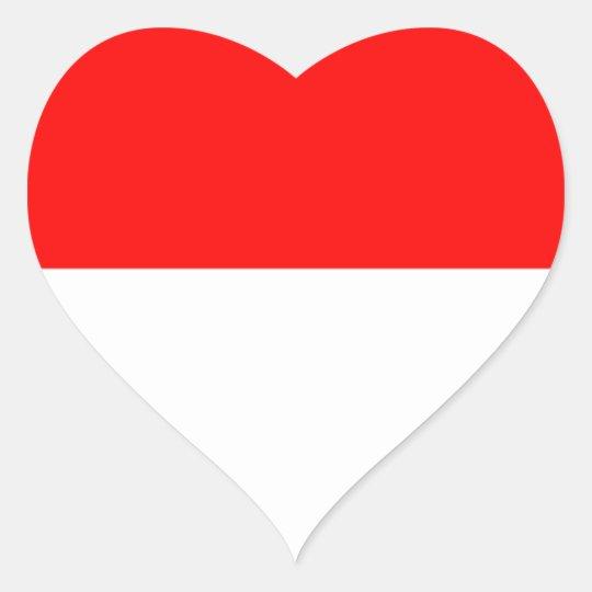 Alsace-Lorraine Flag Heart Sticker