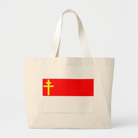Alsace-Lorraine Flag Large Tote Bag
