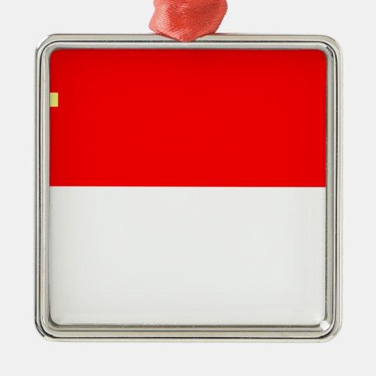Alsace-Lorraine Flag Metal Ornament