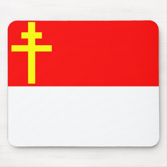 Alsace-Lorraine Flag Mouse Pad