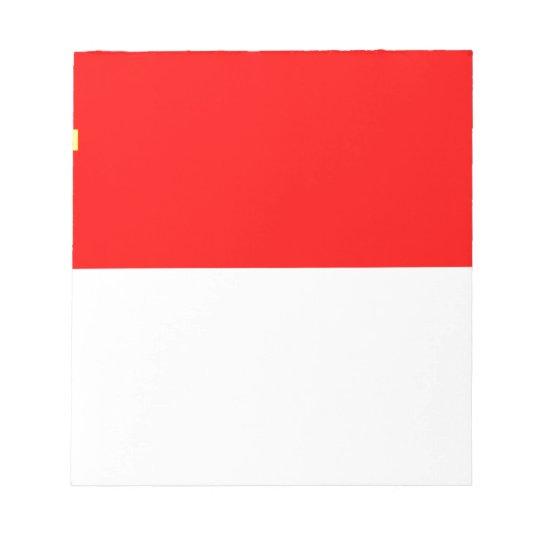 Alsace-Lorraine Flag Notepad
