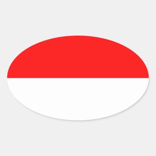 Alsace-Lorraine Flag Oval Sticker