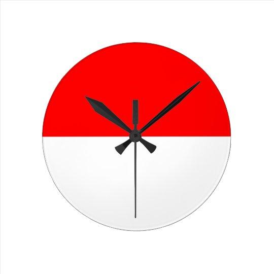 Alsace-Lorraine Flag Round Clock
