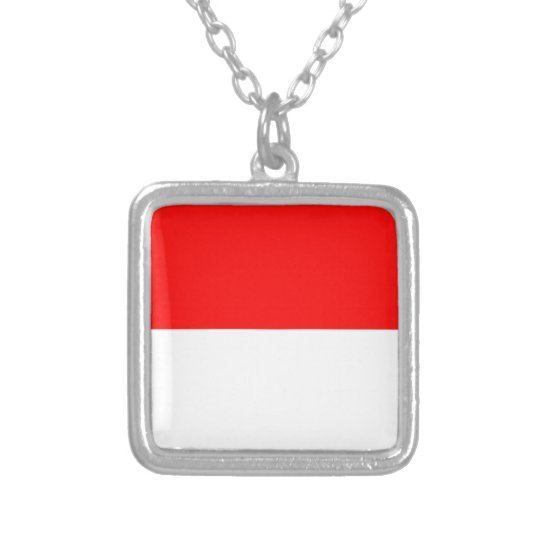 Alsace-Lorraine Flag Silver Plated Necklace
