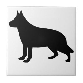 Alsatian Dog Tile