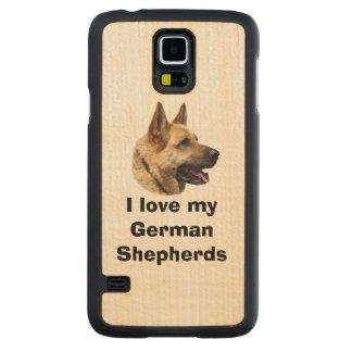 Alsatian German shepherd dog portrait Maple Galaxy S5 Slim Case