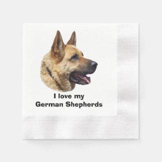 Alsatian German shepherd dog portrait Paper Napkins