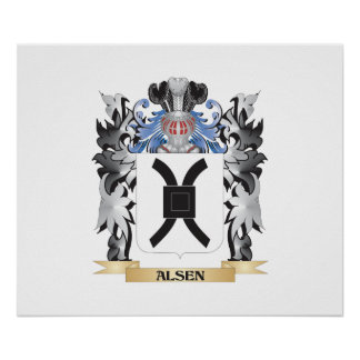 Alsen Coat of Arms - Family Crest Poster